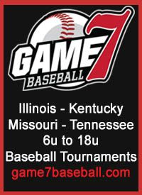 Game7 Baseball tournaments Illinois, Kentucky, Missouri and Tennessee 6u to 1u