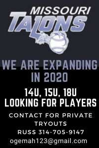 Missouri Talons baseball is looking for 14u 15u and 18u players