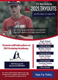 STL Redbirds tryouts 8u to 18u