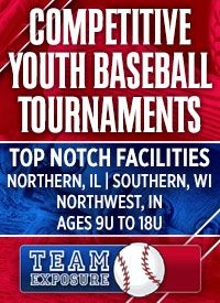 Team Exposure youth baseball tournaments Bourbonnais Illinois