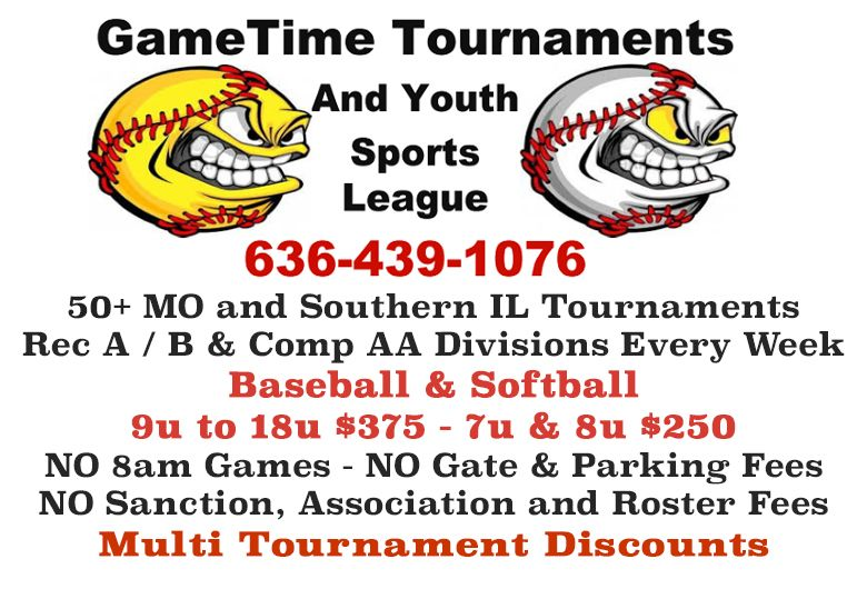 GameTime baseball and softball tournament in Missouri, St. Louis and Southern Illinois